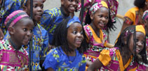 Girls singing at the Africa Conference