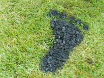 Image of a carbon footprint.  Picture: Daniel Cooper/iStockphoto