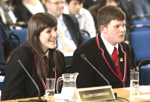 Pupils from Waid Academy, Anstruther speak to the Public Petitions Committee about their petition
